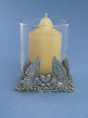 Butterfly Two Piece Votive Holder - Lead Free Pewter