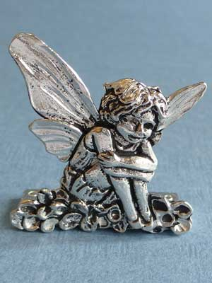 Lead Free Pewter Garden Fairy Connector
