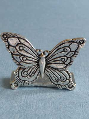 Lead Free Pewter Butterfly Connector