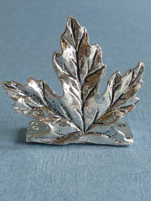 Lead Free Pewter Large Maple Leaf Connector