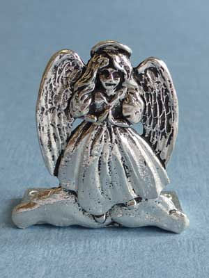 Lead Free Pewter Standing Angel Connector
