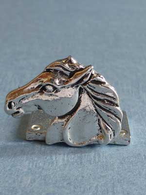 Lead Free Pewter Horse Head Connector