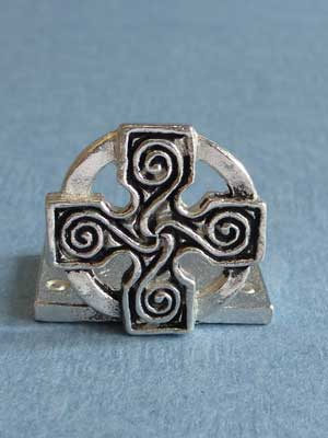 Lead Free Pewter Celtic Cross of 4 Seasons Connector