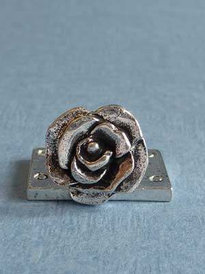 Lead Free Pewter Rose Connector