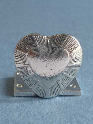Lead Free Pewter Heart Connector