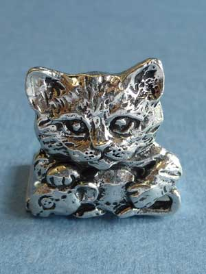 Lead Free Pewter Kitten Connector