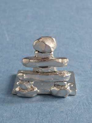 Lead Free Pewter Inukshuk Connector