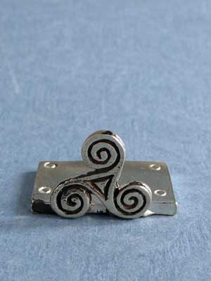 Lead Free Pewter Celtic Triskele Connector
