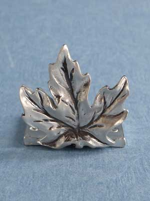 Lead Free Pewter Maple Leaf Connector