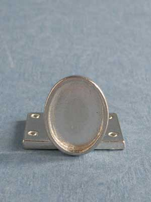Lead Free Pewter Cabochon Connector