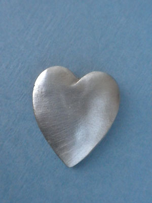 Heart Worry Stone - Lead Free Pewter
