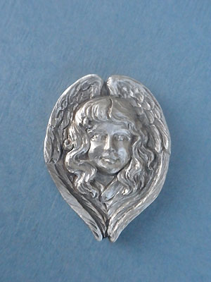 Angel Worry Stone - Lead Free Pewter