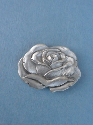 Rose Worry Stone - Lead Free Pewter