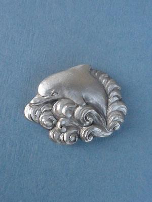 Dolphin Worry Stone - Lead Free Pewter
