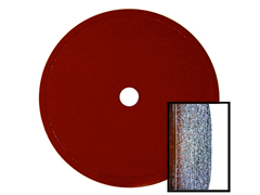 "Red Thin Sintered Rim - 4"" x 023"" weight:.05 LB Arbor:5/8 x 1/2"