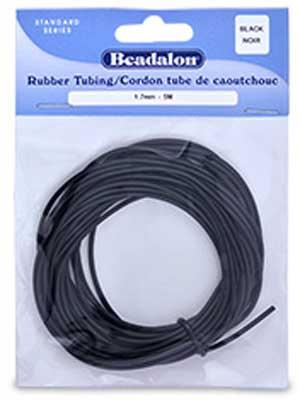 1.7mm Black Rubber Tubing (5m)