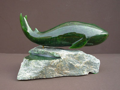 Humpback Whale Jade Carving