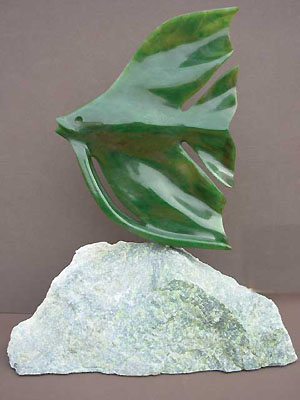 Angel Fish Jade Carving