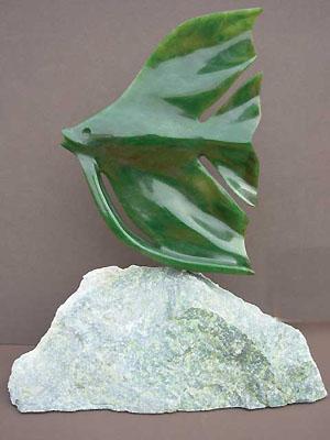 Angel Fish Jade Carving