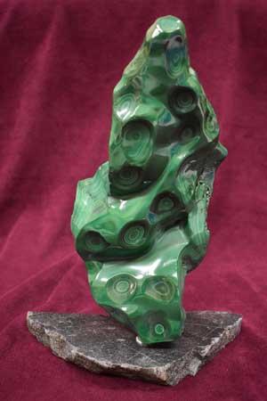 Malachite on an Iron Ore Base