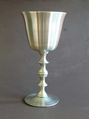 6 oz Satin Finish Lead Free Pewter Goblet
