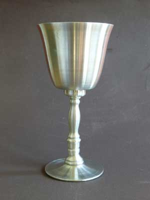 6 oz Bright Polish Finish Lead Free Pewter Goblet