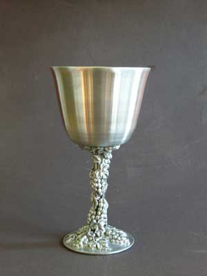 5 oz Grape Design Satin Finish Lead Free Pewter Goblet