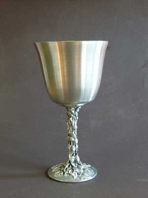 5 oz Ivy Leaf Design Satin Finish Lead Free Pewter Goblet