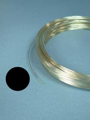 24 Gauge Argentium Sterling Silver Wire (round, 1/2 hard)