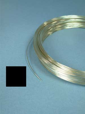 22 Gauge Argentium Sterling Silver Wire (Square, 1/2 Hard)