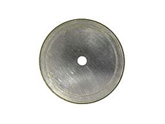 "4"" Arbor:5/8""-1/2"" Silver Thin Notched Rim"