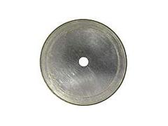 "4"" x .006 x .009 x 5/8 x 1/2 Silver Thin Notched Rim Diamond Blade"