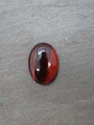 18x25mm Red Tiger Eye Oval Cabochon