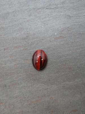 10x12mm Red Tiger Eye Oval Cabochon