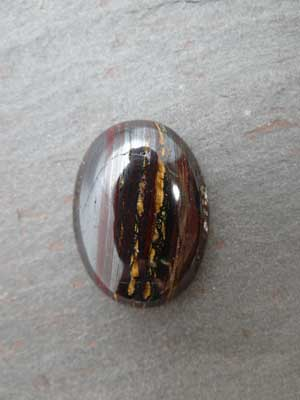 22x30mm Tiger Iron Oval Cabochon