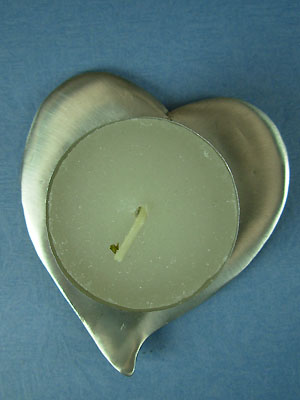Heart Votive Holder - Lead Free Pewter