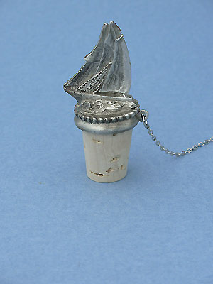 Sailing Ship Wine Stopper - Lead Free Pewter