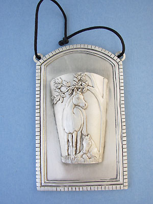 Mare & Foal Wall Hanging - Lead Free Pewter