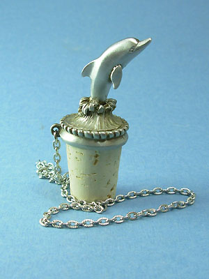 Dolphin Wine Stopper - Lead Free Pewter