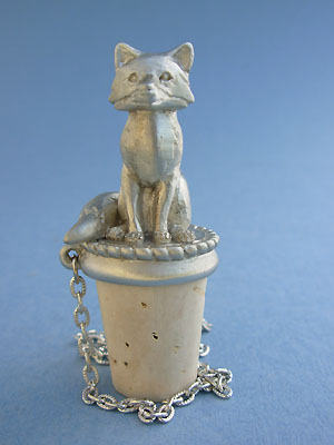 Full Body Fox Winestopper - Lead Free Pewter