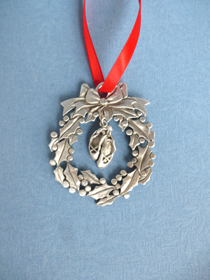 Wreath Ornament with Ballet Slippers