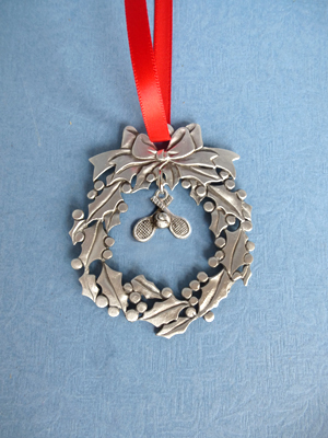 Wreath Ornament with Tennis Charm