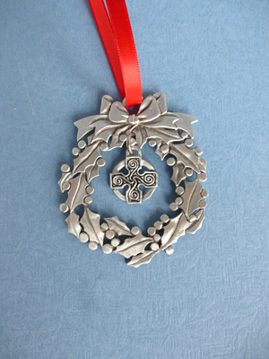 Wreath Ornament with Celtic Charm