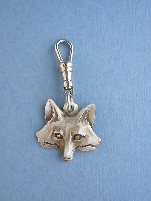 Fox Head Zipper Puller - Lead Free Pewter