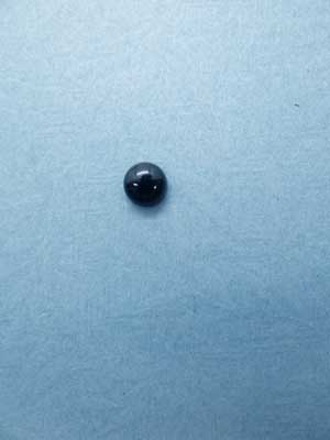 8mm Black Agate Oval Cabochon