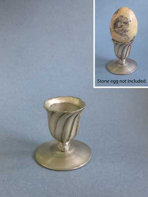 Pewter Egg/Sphere Stand - Lead Free Pewter