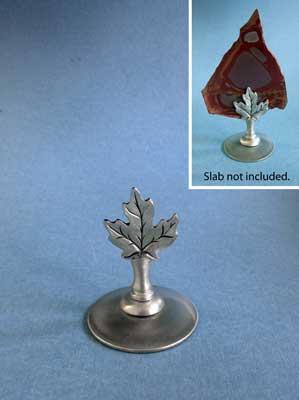 Maple Leaf Slab Stand - Lead Free Pewter