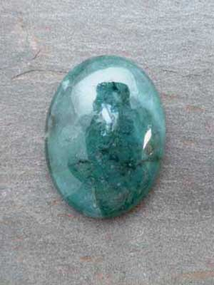 30x40mm Green Moss Agate Oval Cabochon