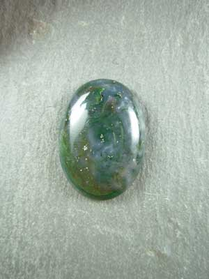 18x25mm Green Moss Agate Oval Cabochon