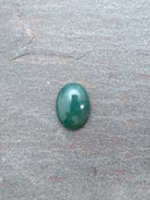 13x18mm Green Moss Agate Oval Cabochon
